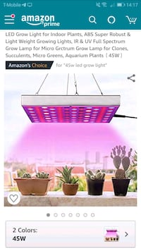 LED grow lights for indoor plants 45w- new Naperville, 60564