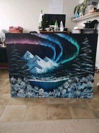 "Huge (30"" x 40"") Northern Nights Painting"