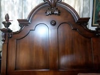 Beautiful Grape Accented wood bed. Very tall Tickfaw, 70466