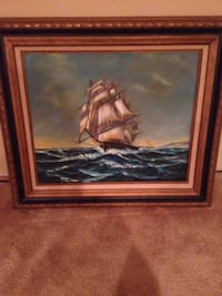 galleon ship on body of water with brown frame Syosset, 11791