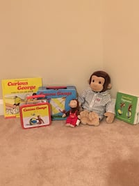 Lot of Curious George Items
