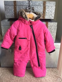 Babygirl's Blue Banana pink snow suit