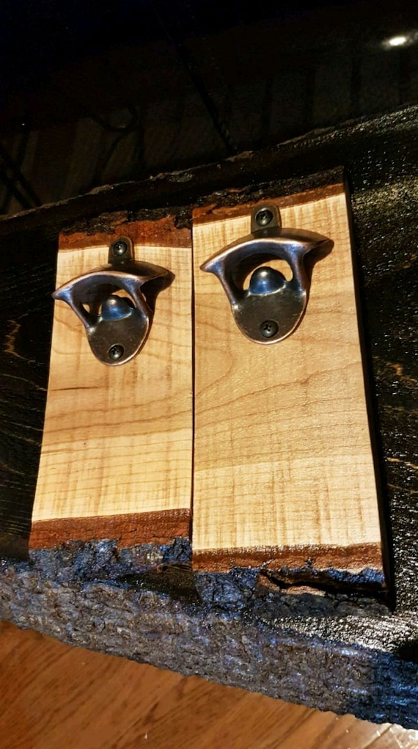 Live Edge Cherry Bottle Opener-- ONE LEFT