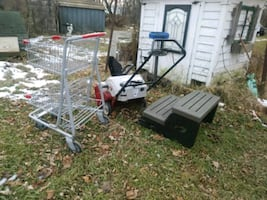 White electric or gas snowblower