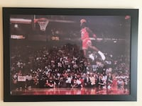 Michael Jordan Framed Collectible Foul-Line Dunk Poster Alexandria