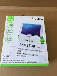 Belkin Surgeplus USB wall mount charger