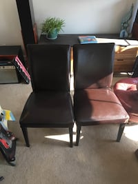 Two leather dining chairs Baltimore, 21231