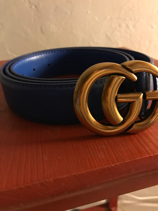 33d676a5aa546 Used Blue Leather Gucci Belt for sale in Miami - letgo