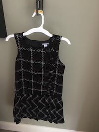 Girls size 8 black plaid dress with red and white stripes Centreville, 20120