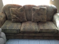 Brown and black floral 3-seat sofa Kissimmee, 34743