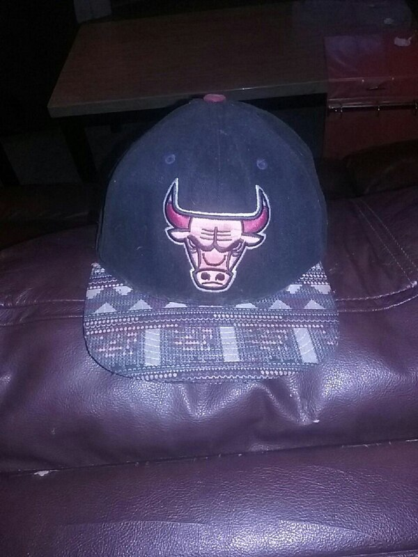 Used black and red Chicago Bulls fitted cap for sale in Jamestown ... 447e3c15901