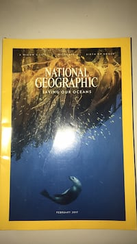 National Geograohic 2017 Magazines  Brookeville, 20833