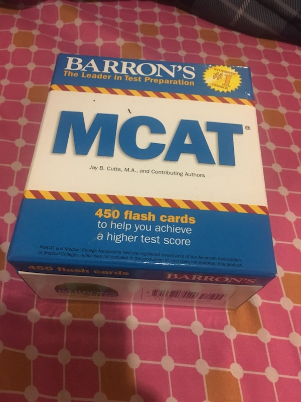 Used 450 Barrons Mcat Flash Cards Box For Sale In Jersey City Letgo