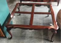 Pennsylvania House Cherry Wood Queen Anne Glass Panel Coffee Table (2 Available) Salina
