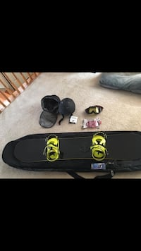 RIDE Snowboard and gear - new/never used