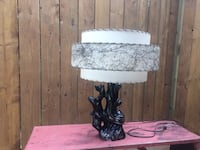 white and purple floral table lamp London, N6H 4R6