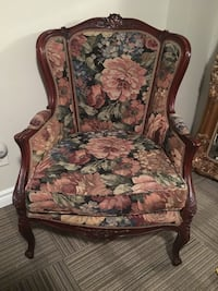 Antique floral chair Toronto, M3C 1L8