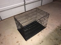 Black metal folding dog crate Lubbock, 79401