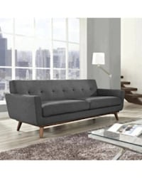 New Gray Sofa Couch.