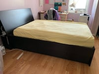 Full mattress with bed frame