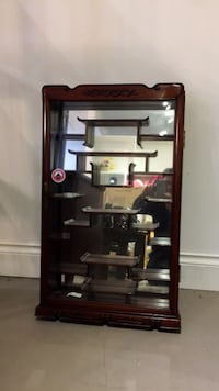 Rosewood Antique High Quality Display Mirrored Cabinet 3748 km