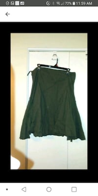 Green cotton skirt med Laval, H7M 4A2