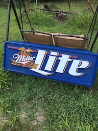 blue and white Miller Lite neon signage Cambridge, 43725