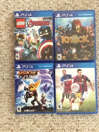 Four PS4 games $15 each one or $50 for all Hagerstown, 21740