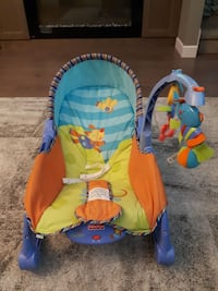 blue, orange, and yellow Fisher-Price rocking chair Vancouver, V5L 1N9