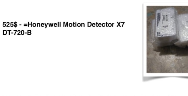 Honeywell security motion detectors