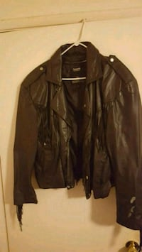 Vintage Berman's Fringe Leather Jacket Large