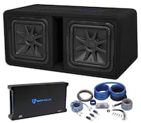 black and blue Kicker subwoofer Reading, 45237