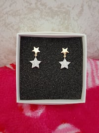 Star Earrings with gems