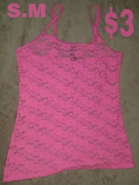 pink lace scoop-neck tank top Modesto, 95355