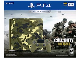 PS4 Slim 1TB Limited Edition Console - Call of Duty WWII