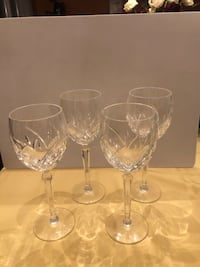 4 Waterford crystal wine glasses and Cristal Arques vase Washington, 20024