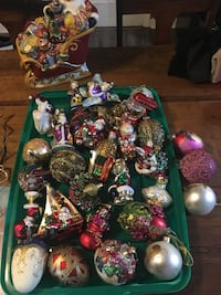 Christmas themed baubles and figurines