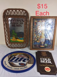 Large Collection of Beer Signs & Man Cave Items $5-$25 Each Check Pictures  Severn, 21144
