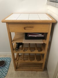 Tile Wine Cabinet with slide out drawer