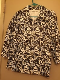 Black and white floral long-sleeved shirt Lancaster, 93535
