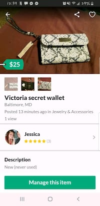 Victoria secret wallet nwt