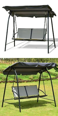 New 2 Seater Patio Swing Chair Porch Bench with Sun Shade Canopy Outdoor Furniture Los Angeles