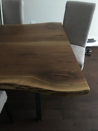 Raw edge Walnut table  Vaughan, L4J