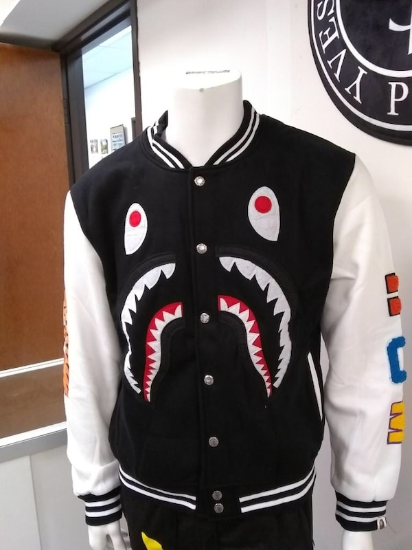 982a5bfc0 Used black and white letterman jacket for sale in Garland - letgo