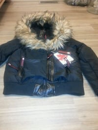 black and brown parka jacket not used. Real fur Westminster, 80003