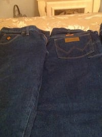two blue and black denim bottoms Lubbock, 79413