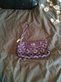Purple coach clutch  London, N5W 4L5