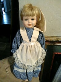 girl in blue and white dress doll Warr Acres, 73122