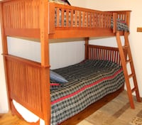 brown wooden bunk bed frame Markham, L3T 5W3