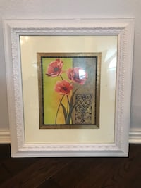 brown wooden framed painting of flowers Houston, 77014